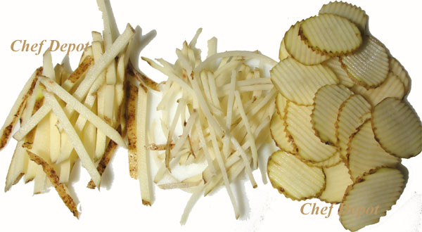 simple sliced and french fry cut potatoes