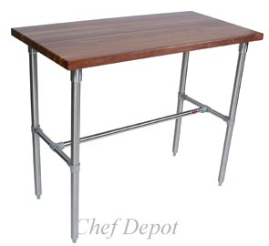John Boos & Chef Depot Walnut Bar Table